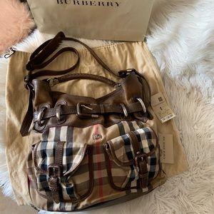 Auth Burberry bromley house check lg handbag cross